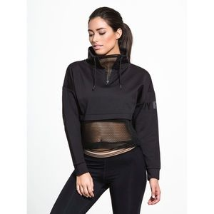 Ivy Park: Open Mesh Panel Zip Funnel Sweat